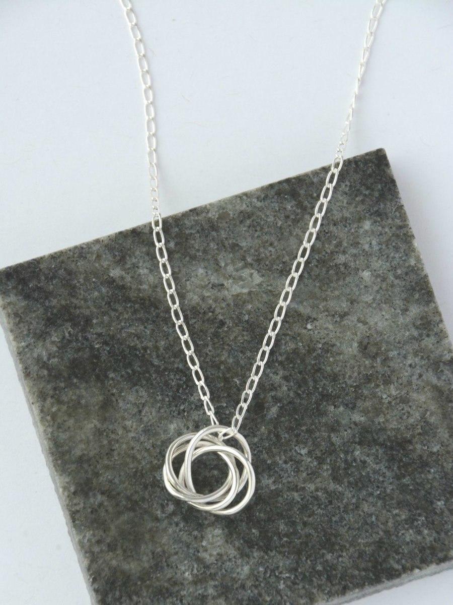 Sterling Silver Fair Trade Knott Necklace | Fair Antia