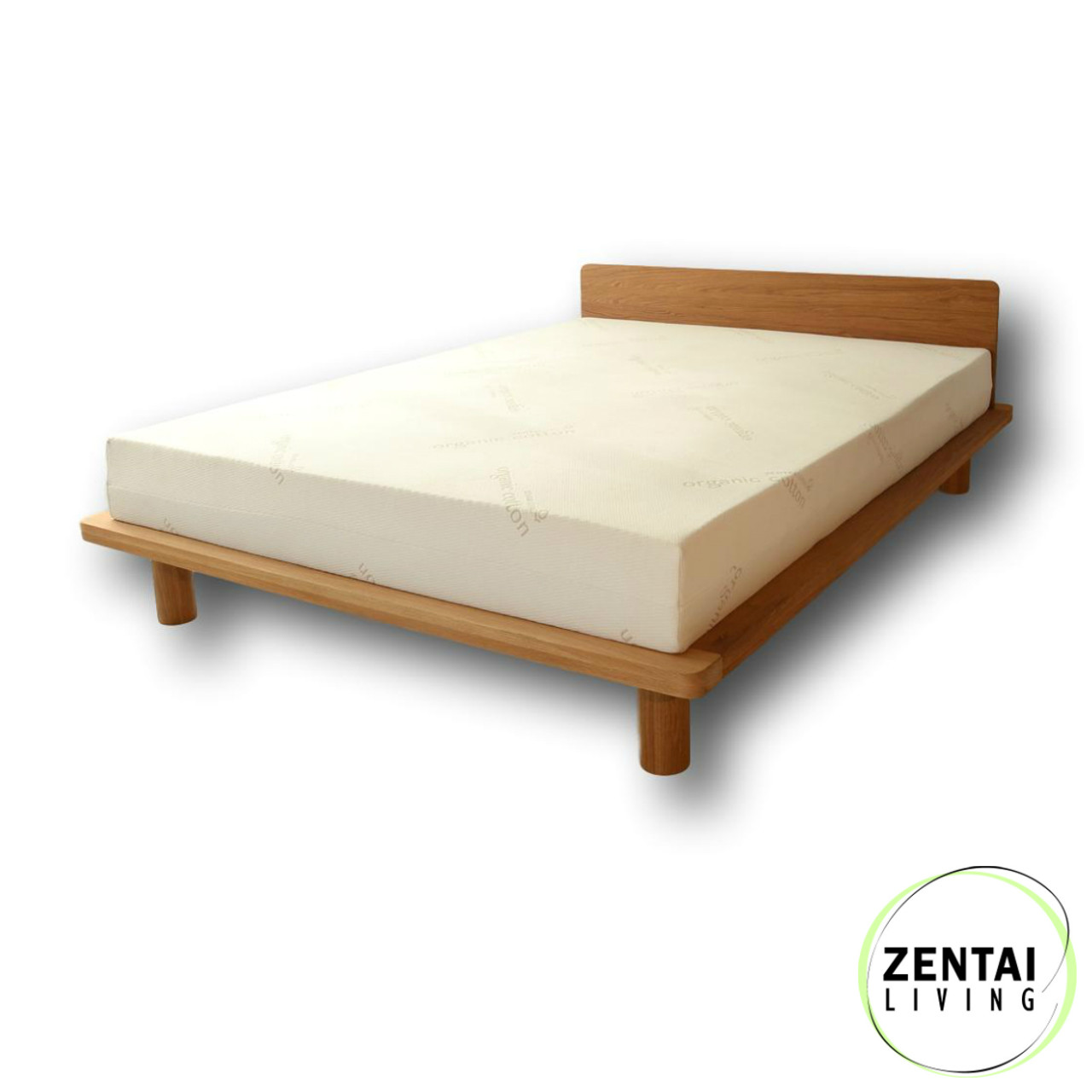 Zen Bed Frame In Solid American Oak Zentai Living