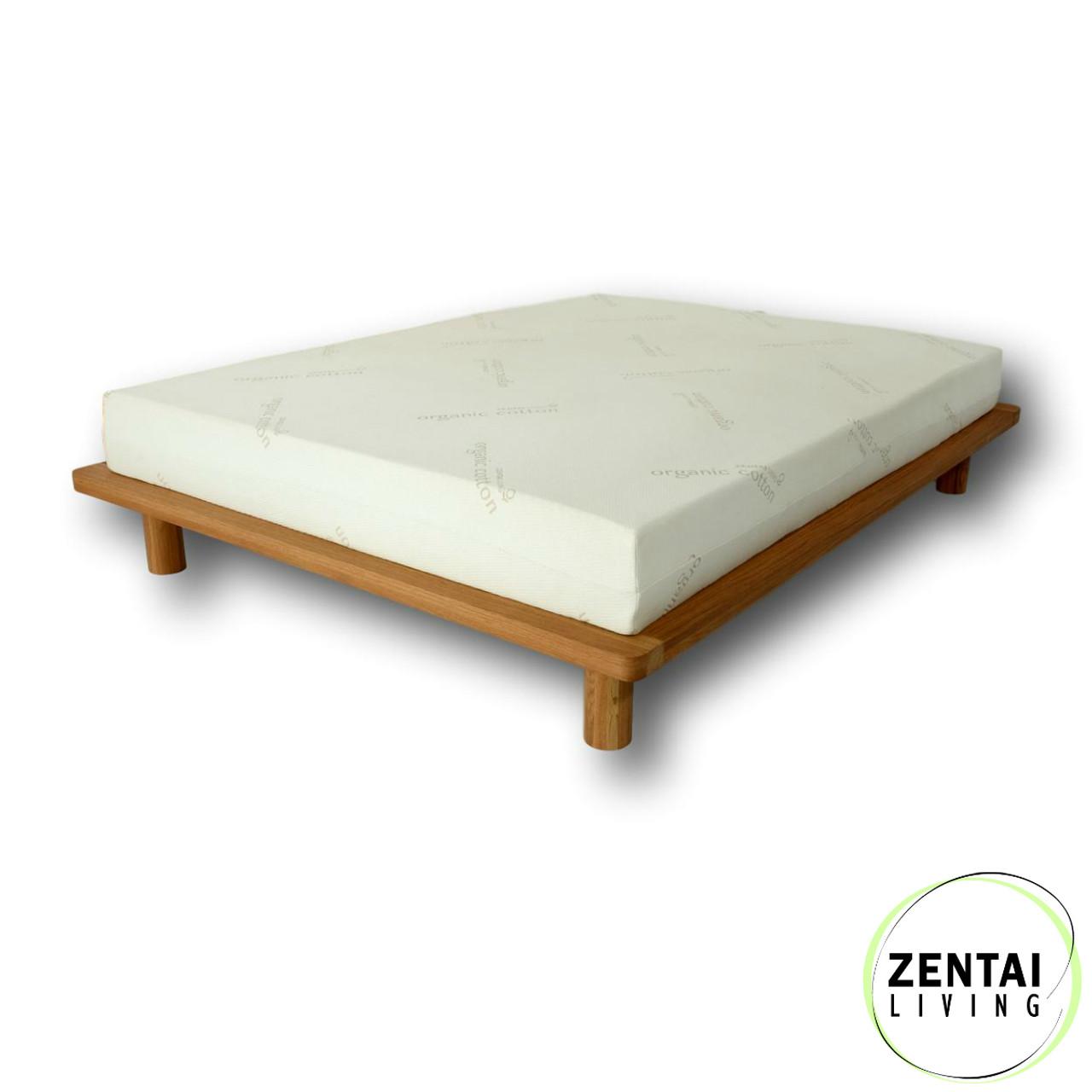 Platform - Solid Wood Bed Frame in American Oak | Zentai Living