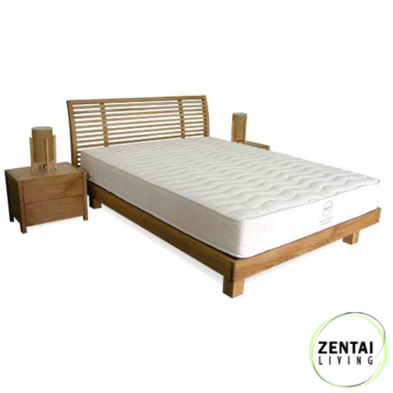 Aura Solid Wood Bed Frame In American Oak Zentai Living
