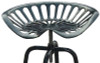 Pair of Industrial Tractor Bar Stools Black