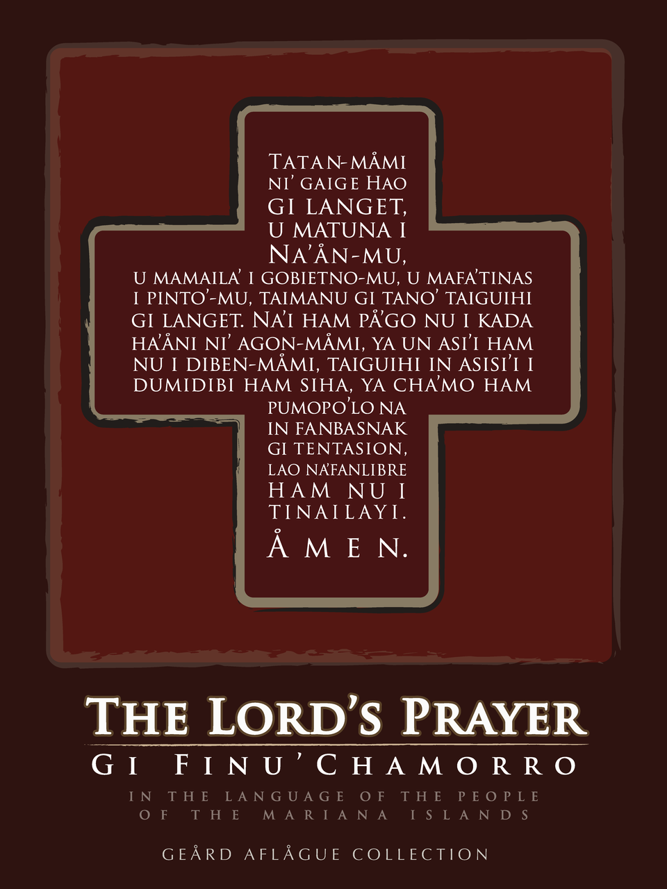 guam gifts guam products our lord s prayer in chamorro in red