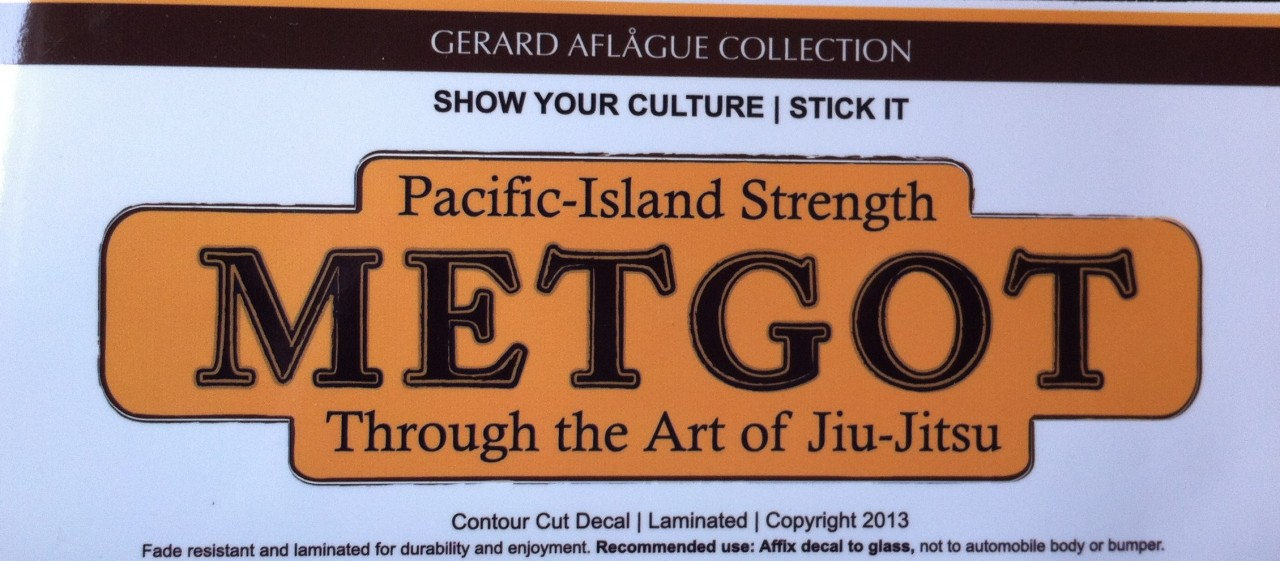 Metgot pacific island strength decal sticker 4 h x 8 w