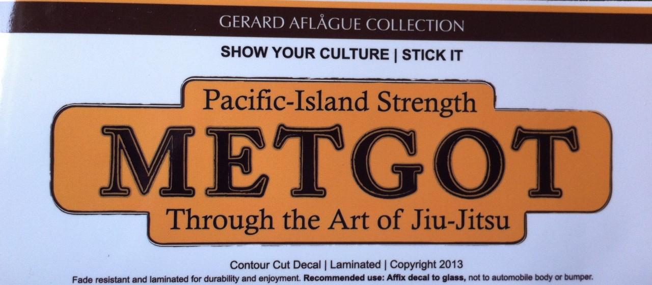 Metgot pacific island strength decal sticker 4 h x 8 w