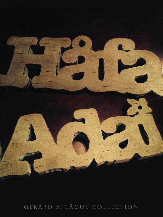 Vintage Hafa Adai In Wood Poster Gerard Aflague Collection