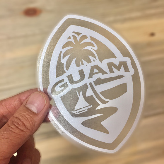 Modern Art Classroom ~ Small modern guam seal car sticker decal