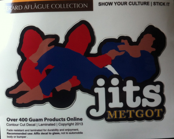 Medium jits metgot armbar sticker decal gerard aflague collection