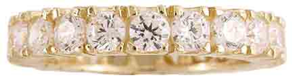 Cubic Zirconias Set in 14 Karat Yellow Gold
