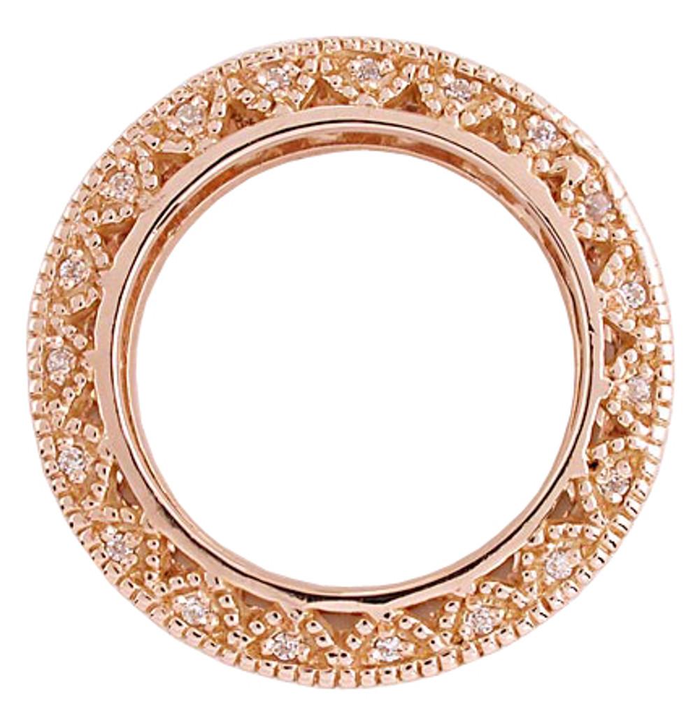 Solid 14 Karat Rose Gold Setting