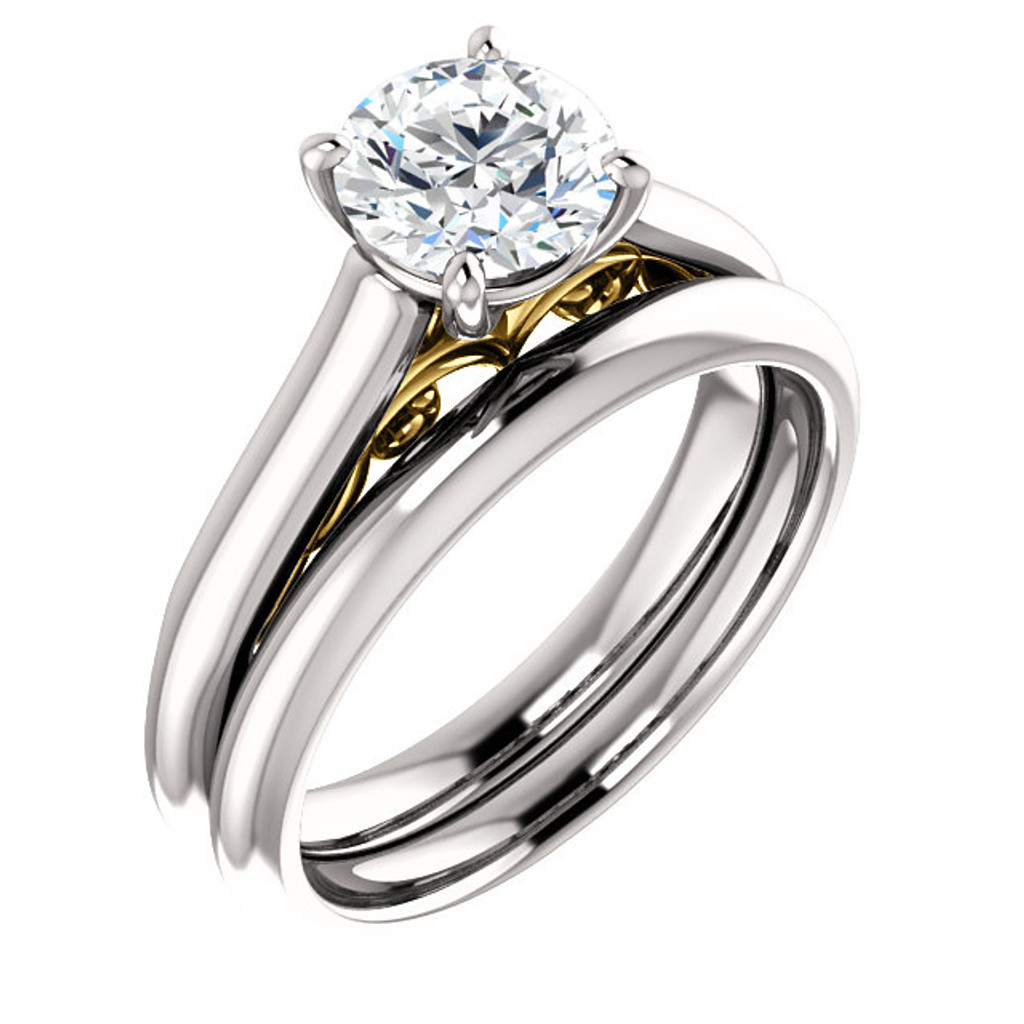 Constance Cubic Zirconia Solitaire Engagement Ring & Matching Band