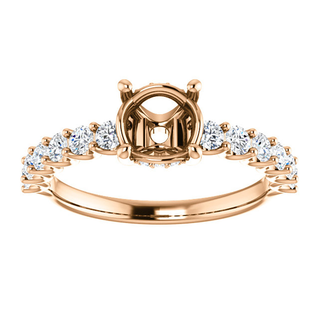 Octavia Engagement Ring With Your Choice of Center Stone Shape & Carat Weight