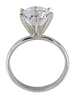 2.50 Carat Special Cut Solitaire on 2mm Oval Band
