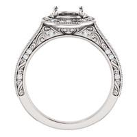 Stunning Vintage Style Halo Engagement Ring