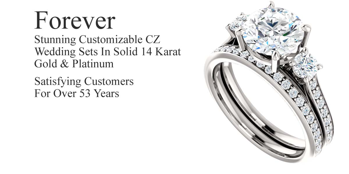 customizable cz wedding sets