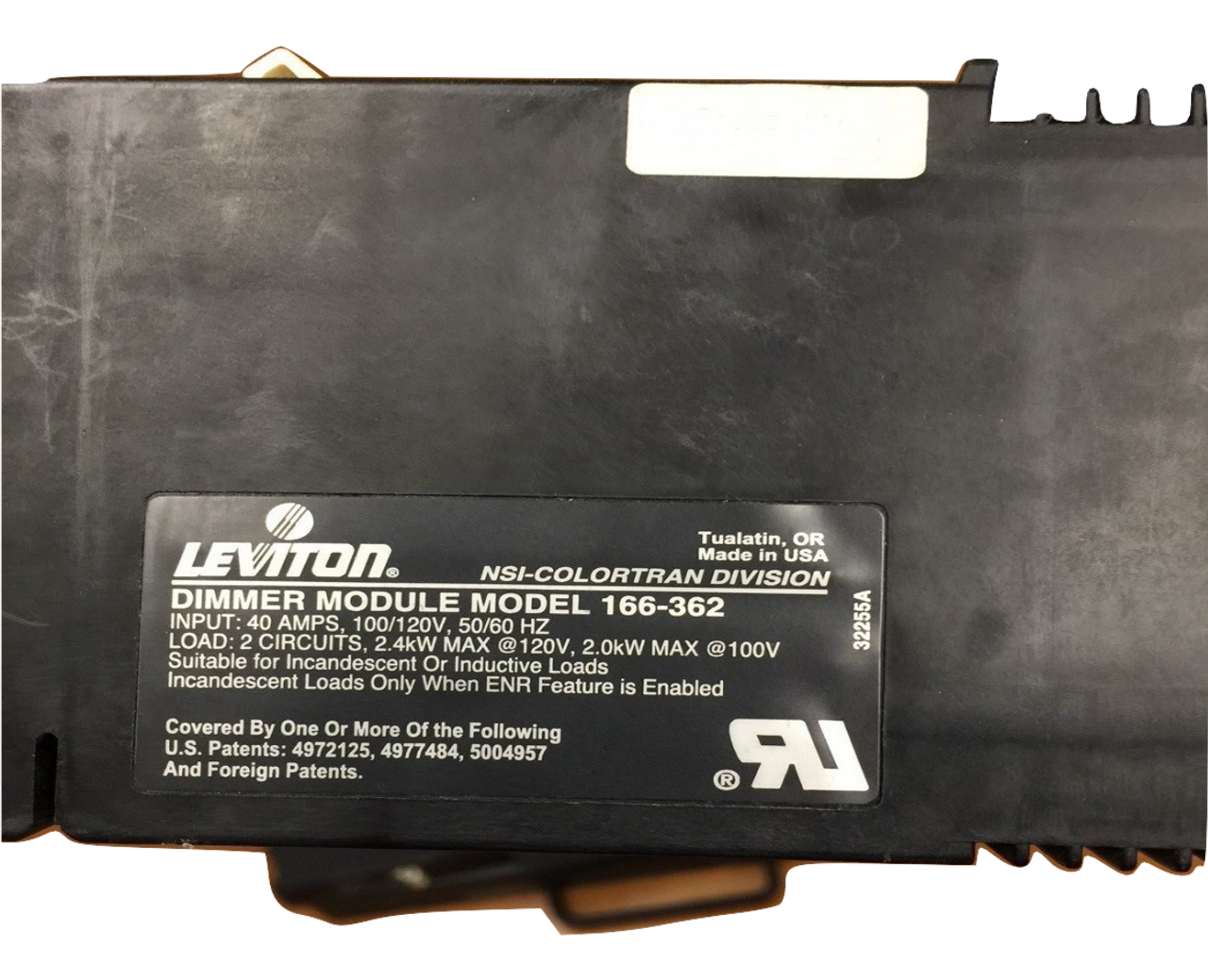 Leviton Colortran ENR Dual 2.4Kw Dual Dimmer conversion to a ...