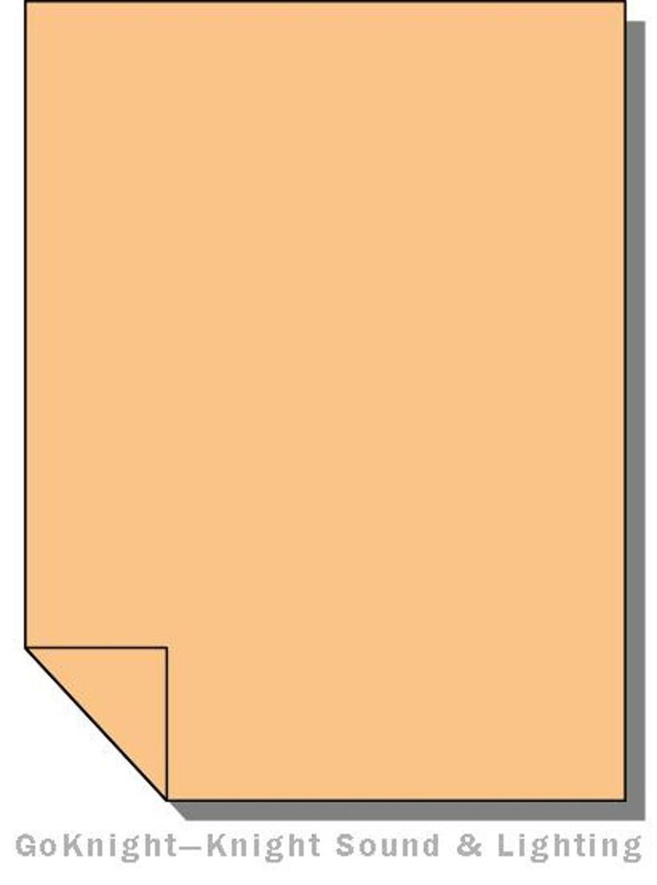 Lee Filters 204 Full CTO Orange Lighting Gel Sheet