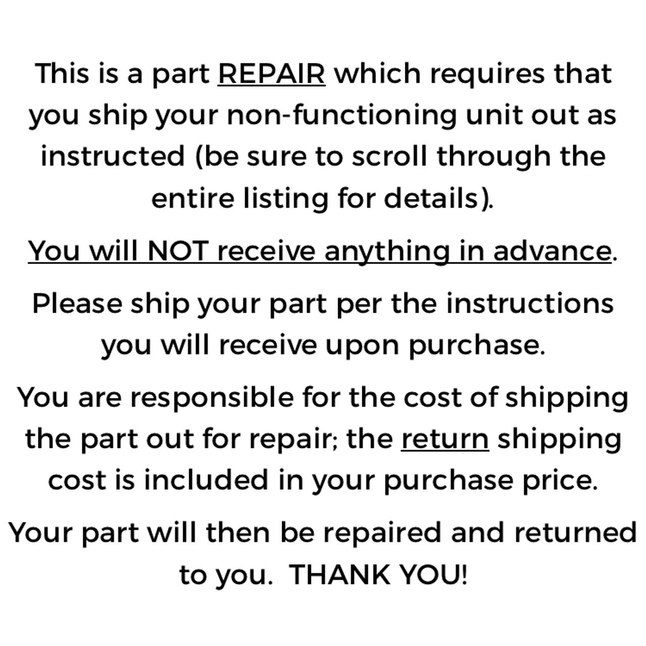 Colortran Remote CM LEC 2102, Repair
