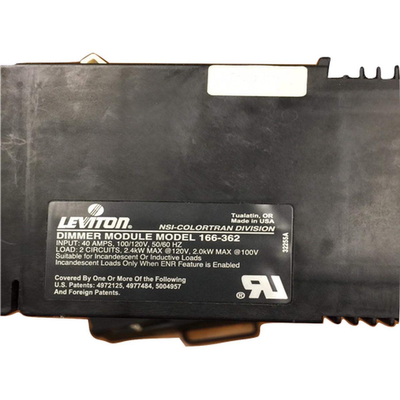 Leviton Colortran ENR Dimmer Module Model 166-362 (Topaz)