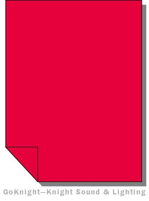 Lee Filters 026 Bright Red Filters Lighting Gel Sheet