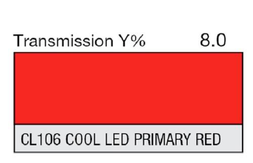 Lee Filters CL 106 Cool LED Primary Red Lighting Gel Sheet