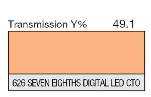 Lee Filters 626 Seven Eighths Digital LED C.T.O. Lighting Gel Sheet