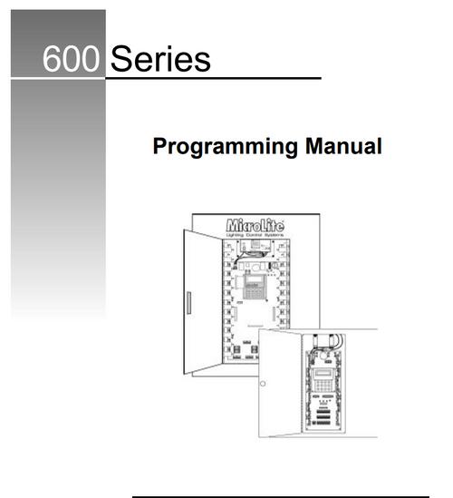 MicroLite 600 user manual