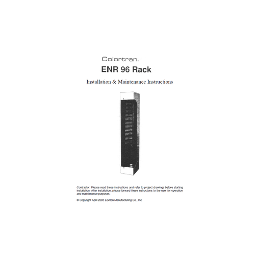 Leviton Colortran ENR 96 Operating Manual