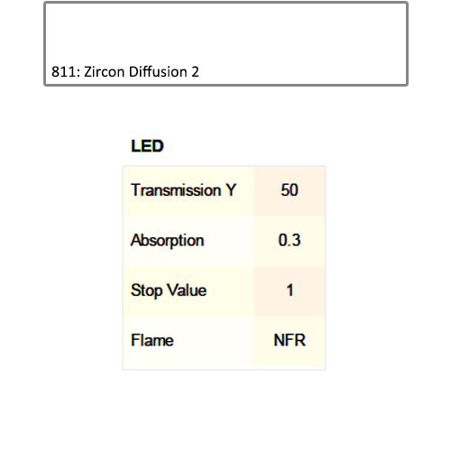 Lee Filters 811 Zircon Diffusion 2 LED Lighting Gel Sheet