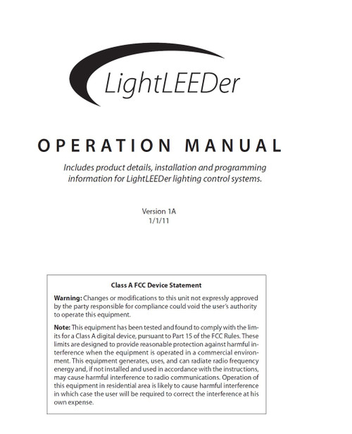 ILC LightLEEDer Operation Manual