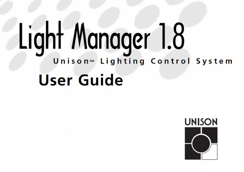 ETC Unison Light Manager V1.8 User Manual