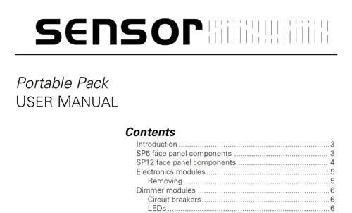 ETC Sensor Portable Pack User Manual