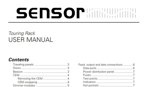 ETC Sensor Touring Rack Manual