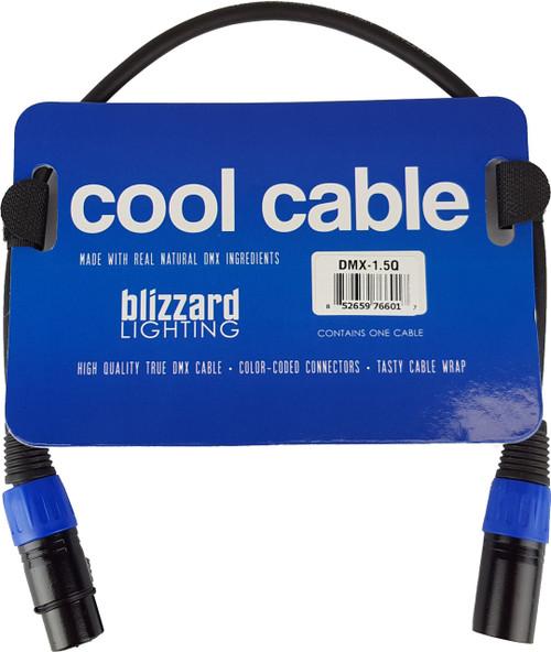 Blizzard Lighting DMX-1.5Q 3-pin XLR Male to Female DMX Cable (1.5')