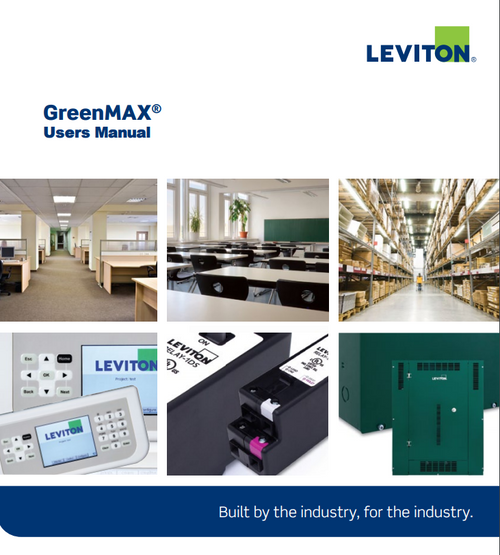 Leviton Greenmax User's Manual