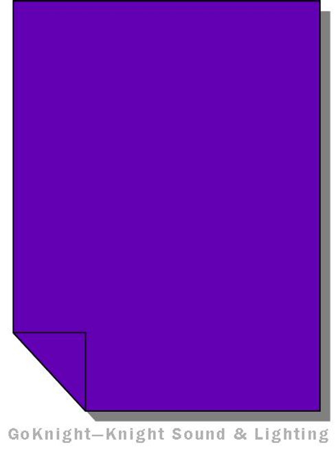 Lee Filters 707 Ultimate Violet Lighting Gel Sheet