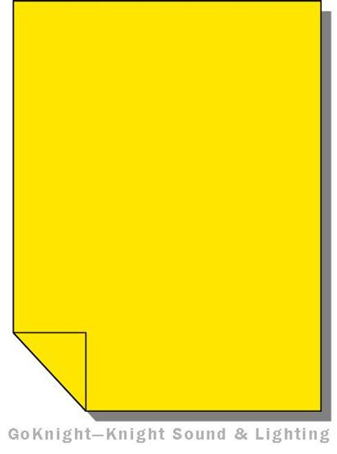 Lee Filters 767 Oklahoma Yellow Lighting Gel Sheet