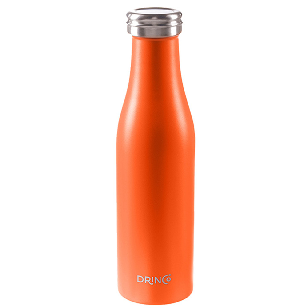 Drinco Vacuum Insulated Stainless Steel Water Bottle, Double Wall, Triple Insulated, Wave, Leak Proof, Powder Coated, 18/8 Grade, Slim Stainless Steel Water Bottle,17oz