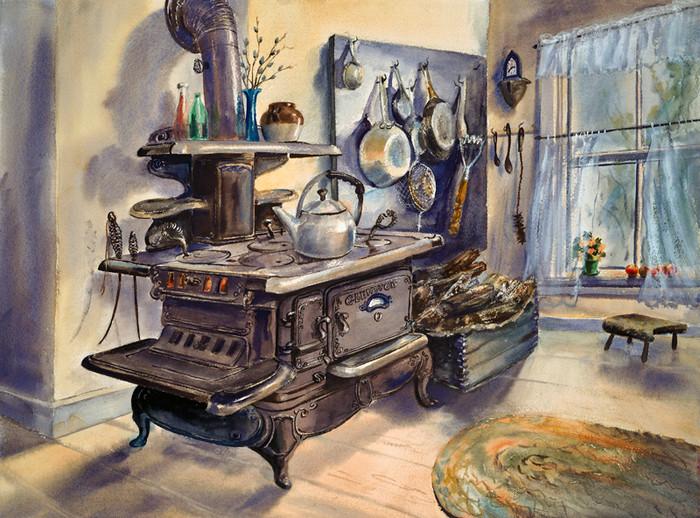 Glenwood Woodstove, Margaret Holland Inn