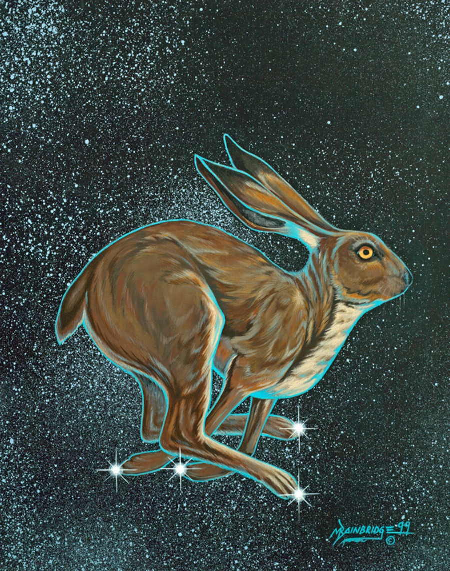 Gah Hahat'ee - Rabbit Tracks, Signifies Hunting Season