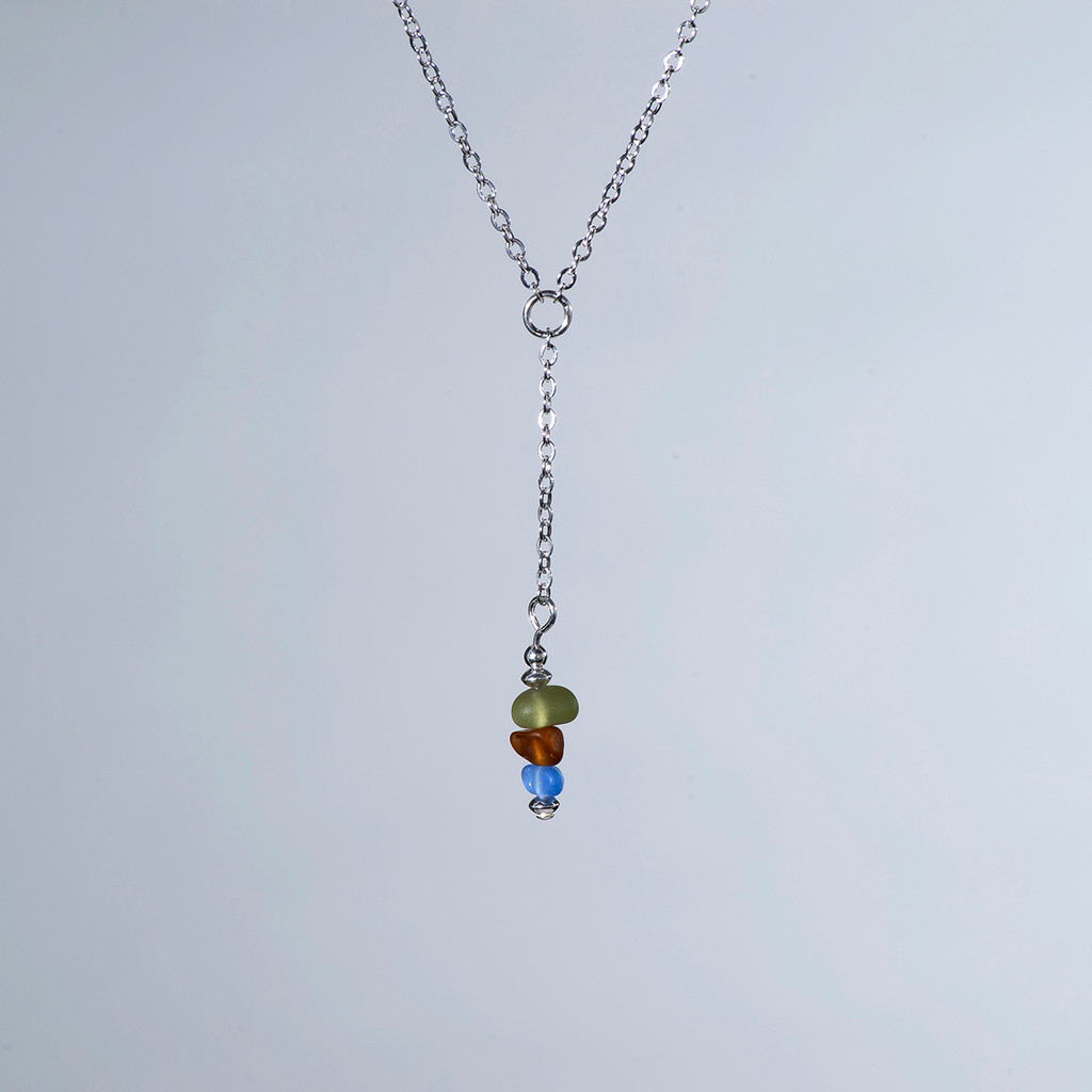 """Beach Glass """"Y"""" Necklace"""