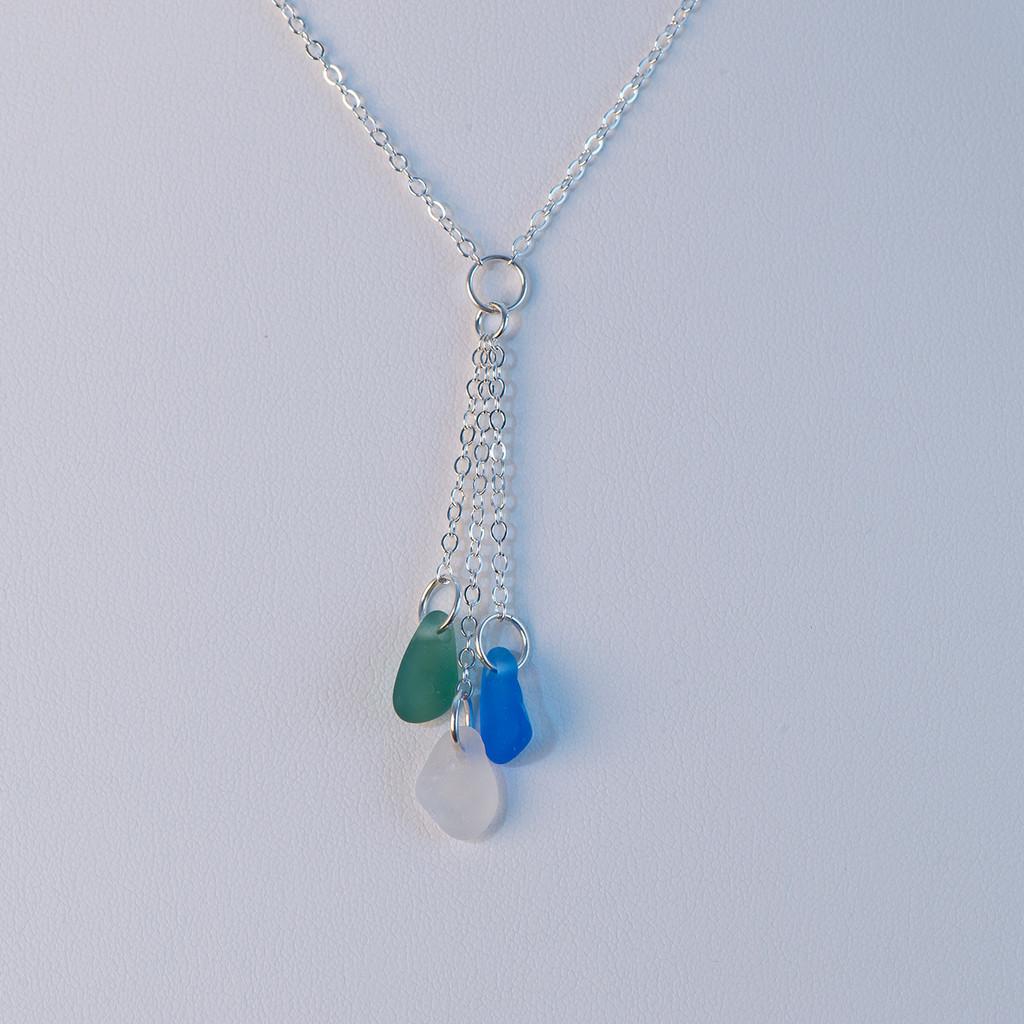 Sea Glass 'Y' Necklace
