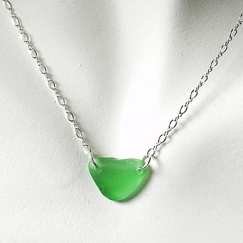 Green Glass Laurie Necklace