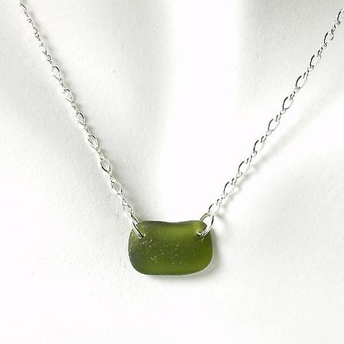 Khaki Glass Laurie Necklace