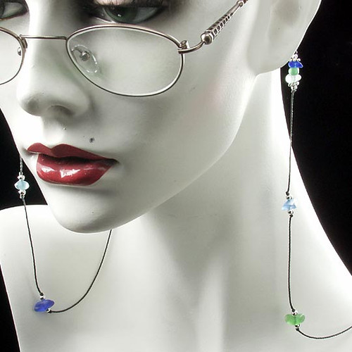 Beach Glass Eyeglass Holder