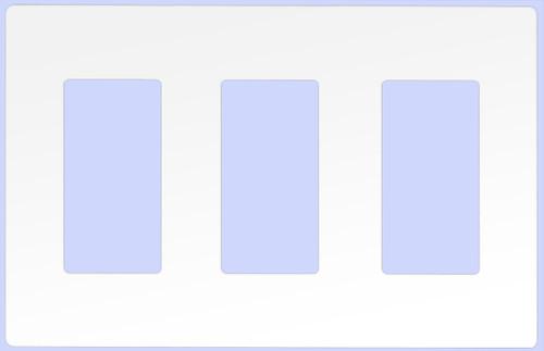 (WD3W-SCREWLESS) Decorative Screwless Wallplate 3-Gang White