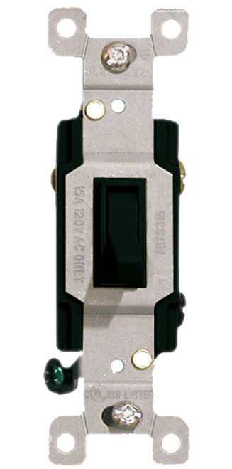 (S3B) Three Way Toggle Switch 15A Black