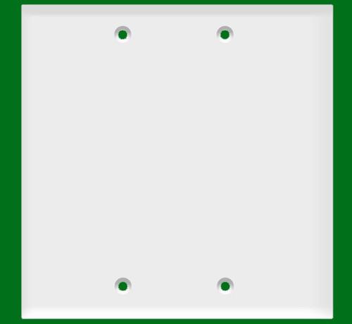 (W2BW) Blank Wall Plate 2-Gang White