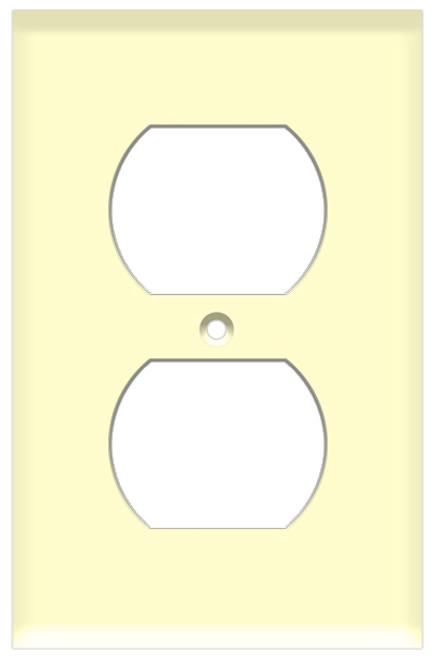 (WRA) Duplex Receptacle Wall Plate 1-Gang Almond