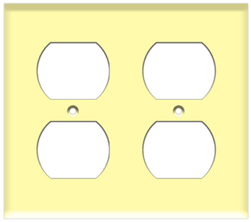 (WR2I) Duplex Receptacle Wall Plate 2-Gang Ivory