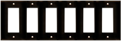 (WD6BRN) Decorative Wall Plate 6-Gang Brown
